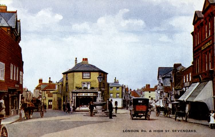 London Road and High Street - 1925