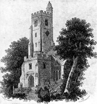 South Porch and Tower of Sevenoaks Church - 1809