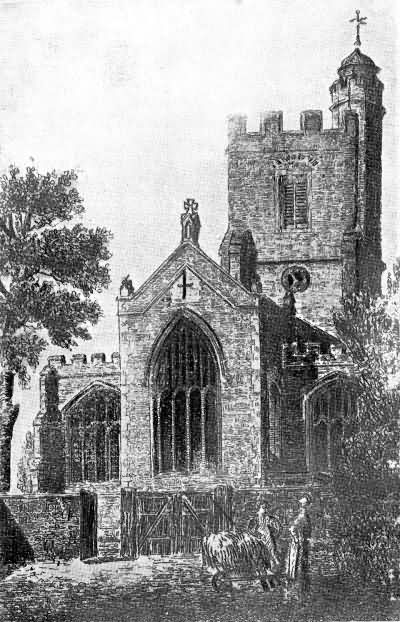 The Parish Church of Sevenoaks from the High Street - 1820