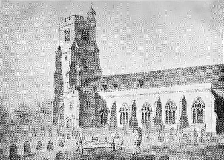 The Parish Church before the 1810 restoration - 1797