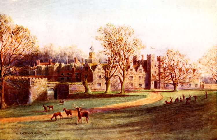 North West Front, Knole - 1909