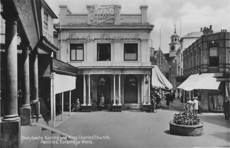 Chalybeate Spring and King Charles Church, Pantiles - c 1930