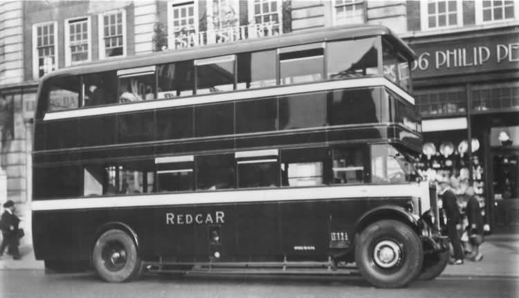 Redcar double-decker bus - c 1935
