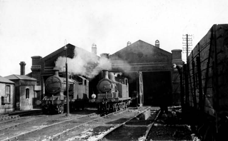 Tunbridge Wells West Station Shed - 1st Mar 1947