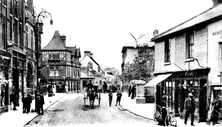 High Street and Castle Hotel - 1895