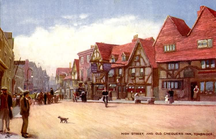 High Street and Chequers Inn - 1908