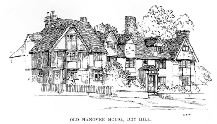 Old Hanover House, Dry Hill - c 1930