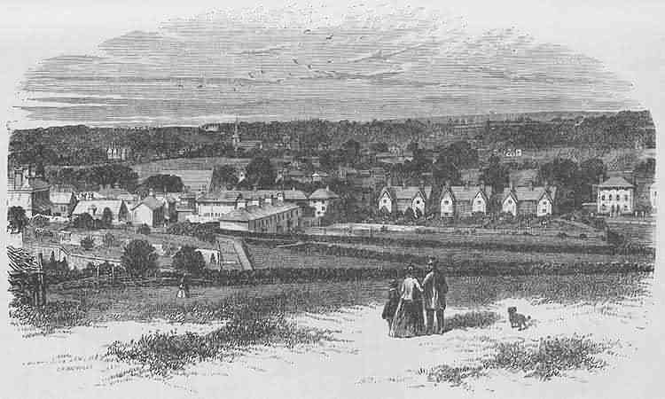 View of Uckfield from the South - 1871