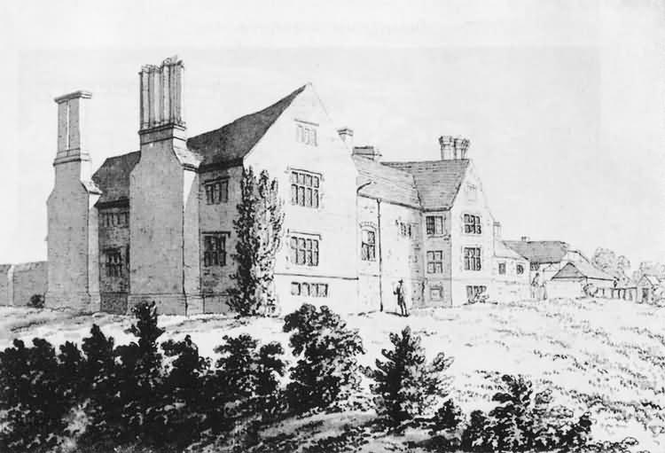 West front, Riverhall - c 1785