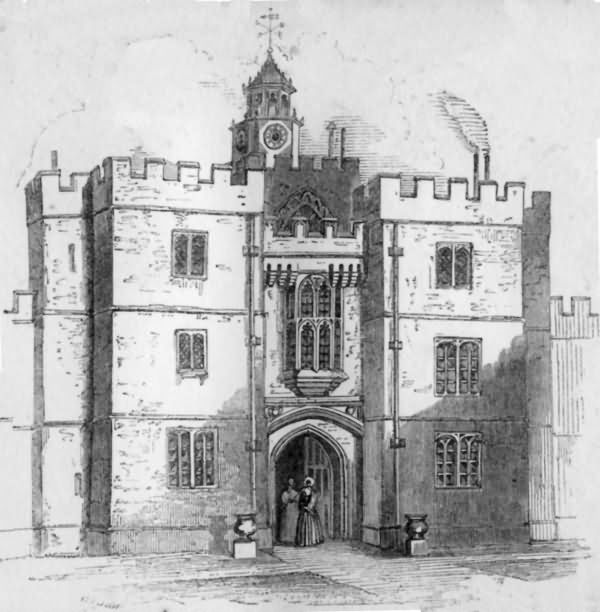 Knole - Second Entrance Gateway - 1840