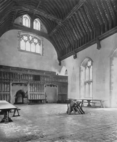 Penshurst - inside the great hall - c 1930