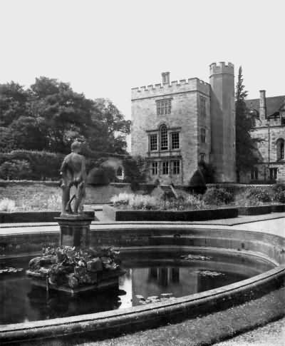 Penshurst - the lily pool and southwest tower - c 1930