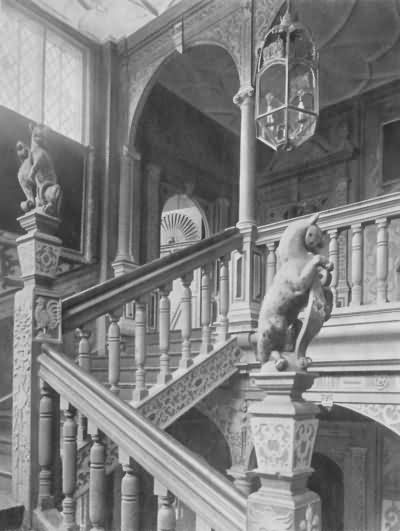 Knole - the great staircase - c 1930