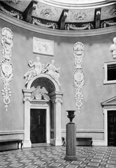 Mereworth Castle - the central domed hall - c 1930