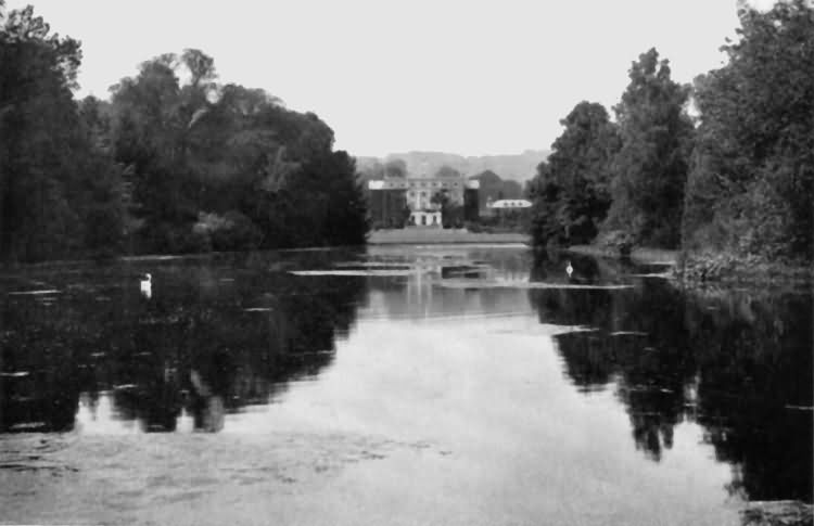 Chevening - the south front across the lake - c 1930