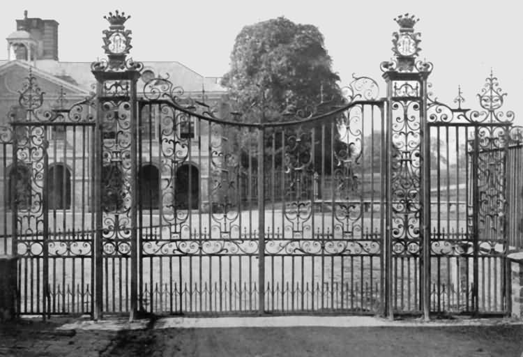 Chevening - 18th century wrought-iron gate - c 1930