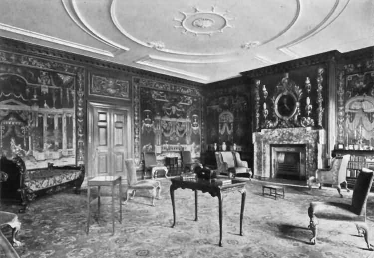 Chevening - the tapestry room - c 1930