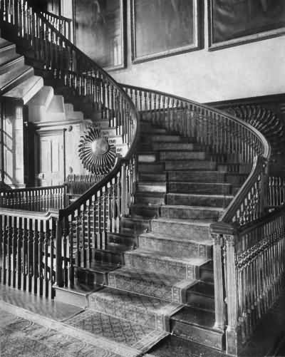 Chevening - the great staircase - c 1930