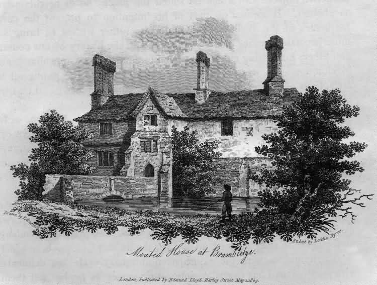 Moated House at Brambletye - 1809