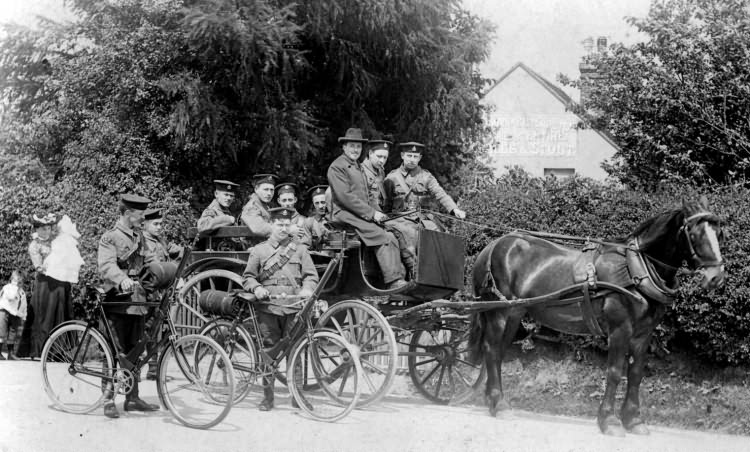 Army Volunteers, near William IV pub, Nutley - 1907