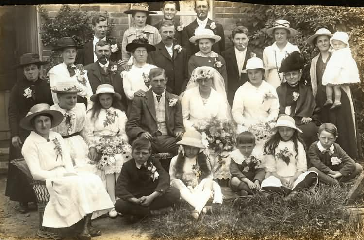 George and Alice Barnes Wedding - 1919