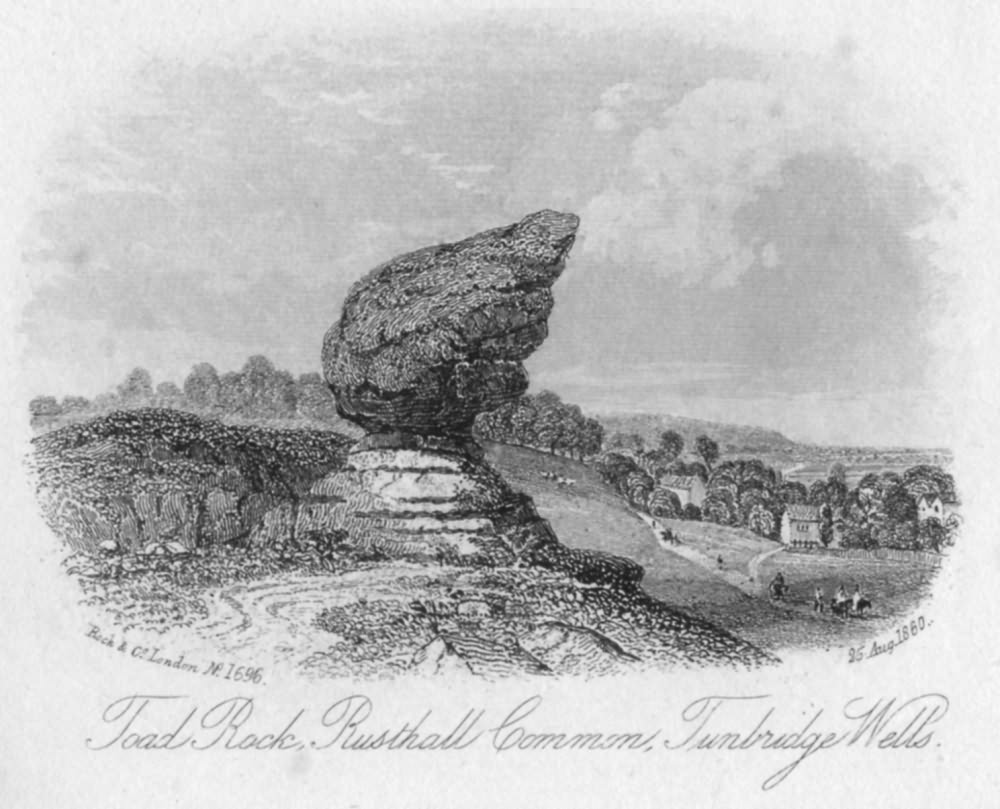 Toad Rock, Rusthall Common - 25th Aug 1860