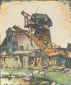 Crowborough Mill by Frank Brangwyn