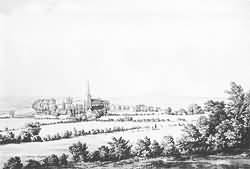 The View from the hill above Rectory House in 1785