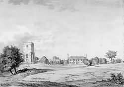 Withyham's church and parsonage in 1783